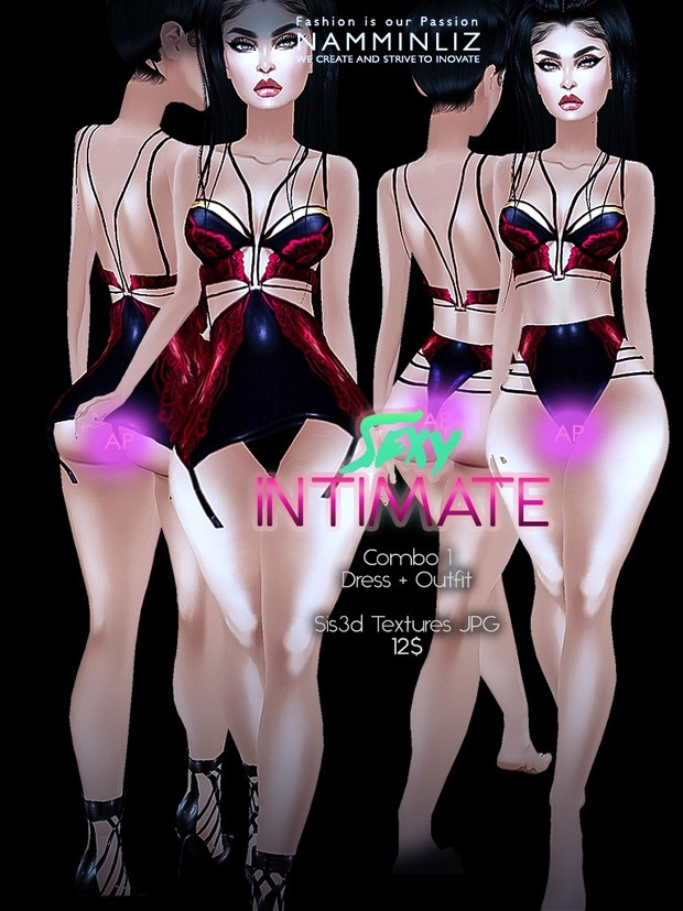 Sexy Intimate combo1 (Dress + outfit) Sis3d imvu Texture AP JPG