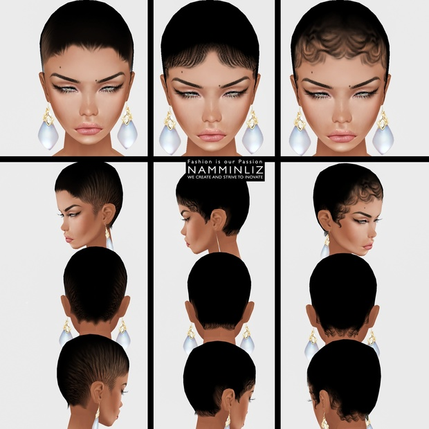 6 Baby Hair 360 Opacity Imvu Hairstyle Namminliz