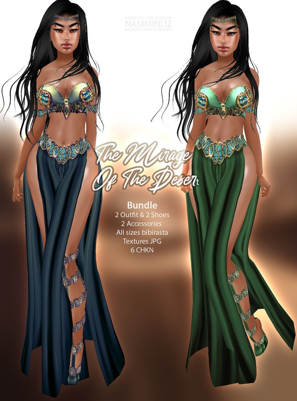 The Mirage of the desert Bundle 2 Outfit & 2 Shoes & 2 Accessories Textures JPG 6 CHKN all sizes