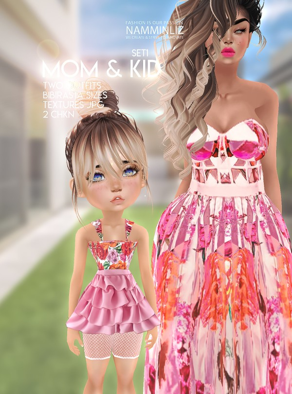 Mom & Kid Set1 Two Outfit Textures JPG 2 CHKN
