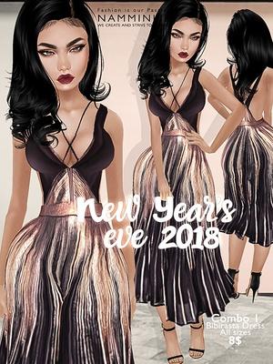 New Year's eve combo1 Bibirasta dress all sizes imvu JPG texture NAMMINLIZ