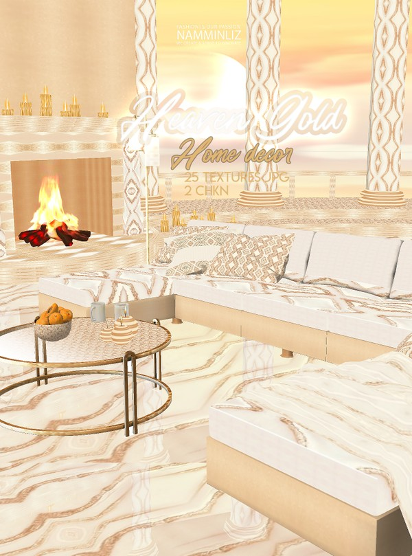 Heaven Gold Home decor 25 Textures JPG 2 CHKN