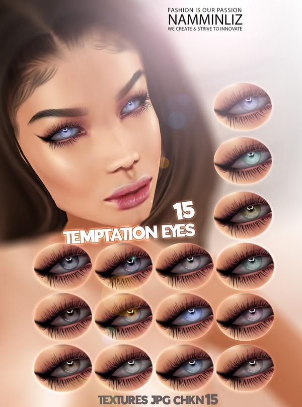 Temptation Eyes 15 Textures JPG 15 CHKN