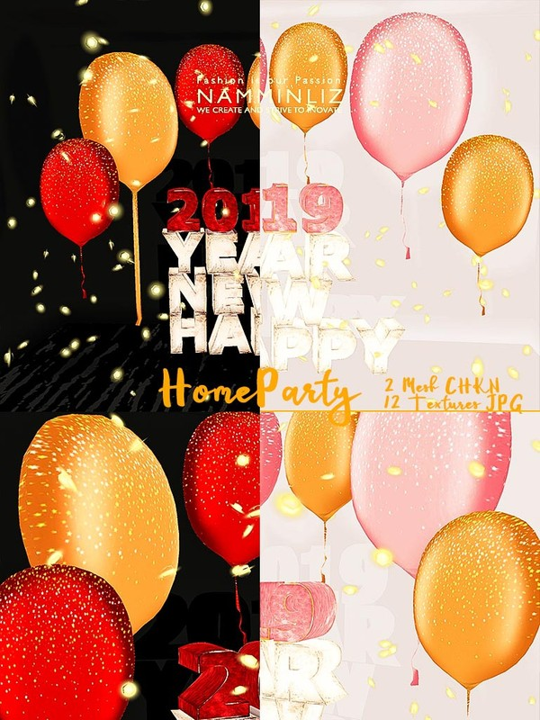 Home Party Mesh home decor 2 CHKN 12 Textures JPG ( Lights, Balloons )