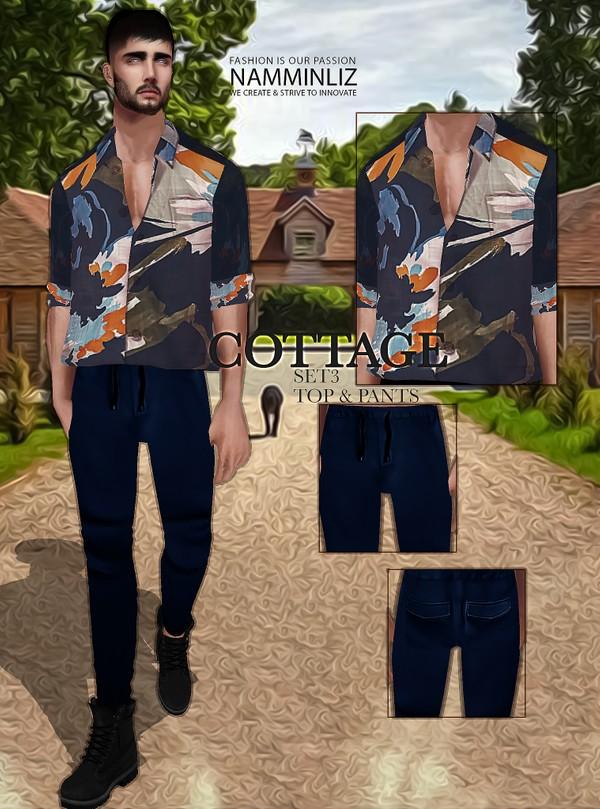 Cottage SET3 Textures JPG Top & Pants 2 CHKN
