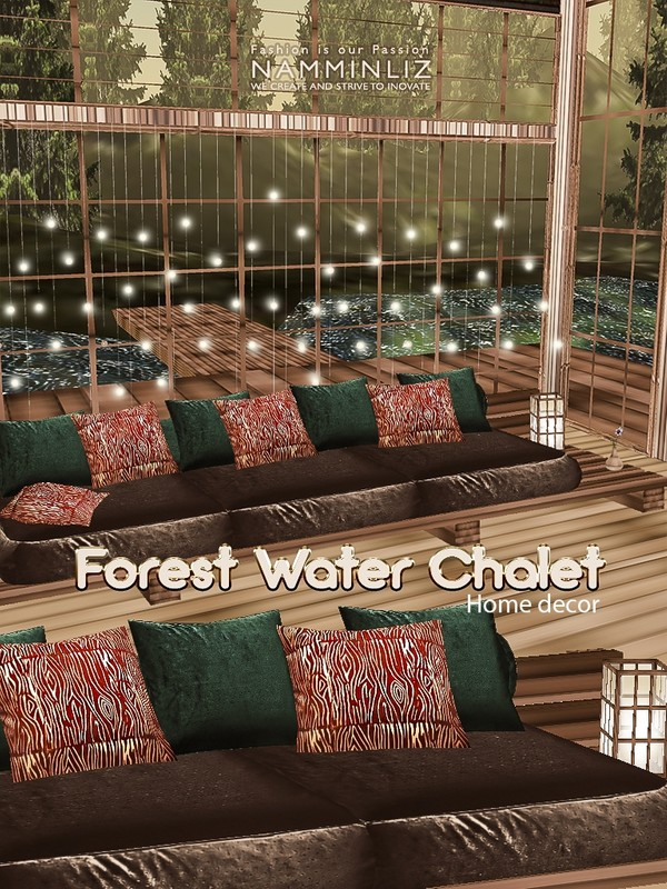 Forest water chalet Home decor 24 Textures JPG & 6.CHKN files