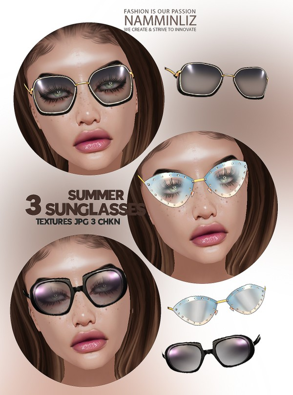 3 Summer Sunglasses Textures JPG 3 CHKN