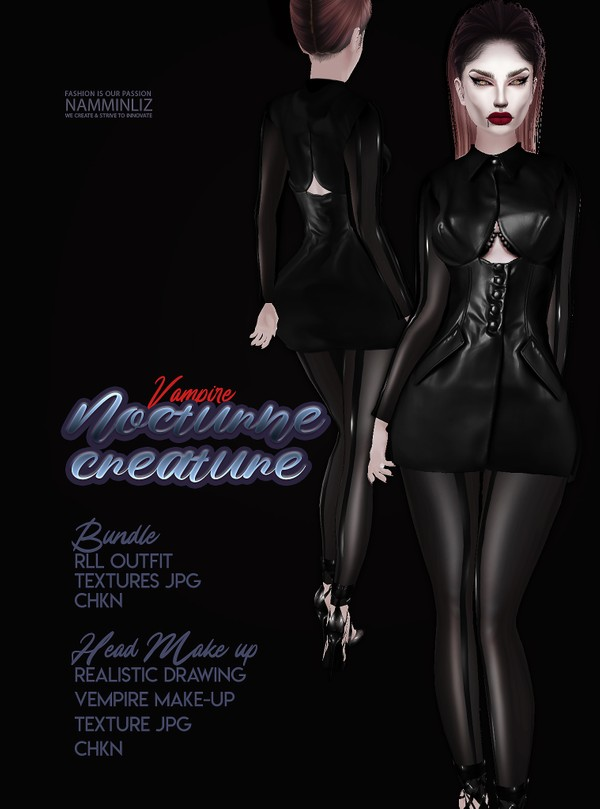 Nocturne Creatures RLL Outfit & Head Make-up Textures JPG CHKN
