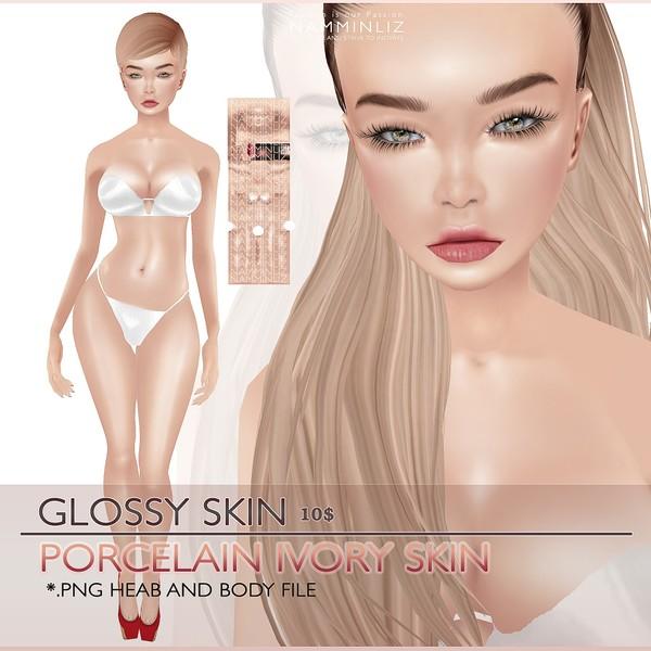 S K I N Glossy Porcelain ivory skin 5