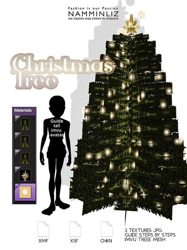Christmas Tree (Textures 3 JPG - CHKN - XMF - XSF )