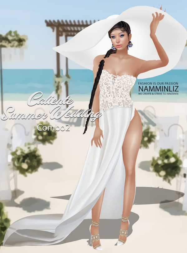 Caliente Summer Wedding Dress Combo2 Textures PNG  CHKN  Limited to 3 clients only ^  -  &