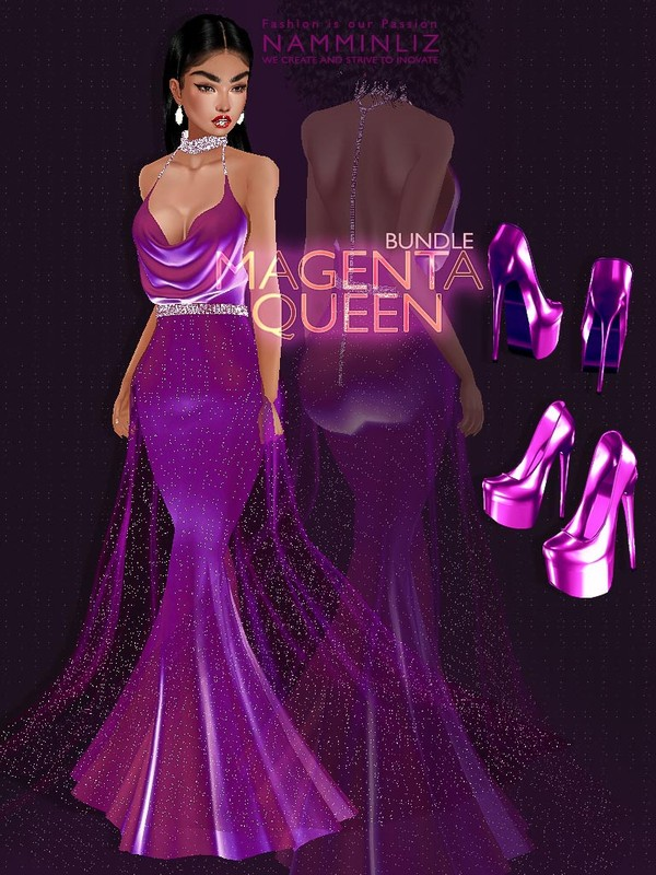 Magenta Queen Bundle JPG Textures Outfit Shoes CHKN