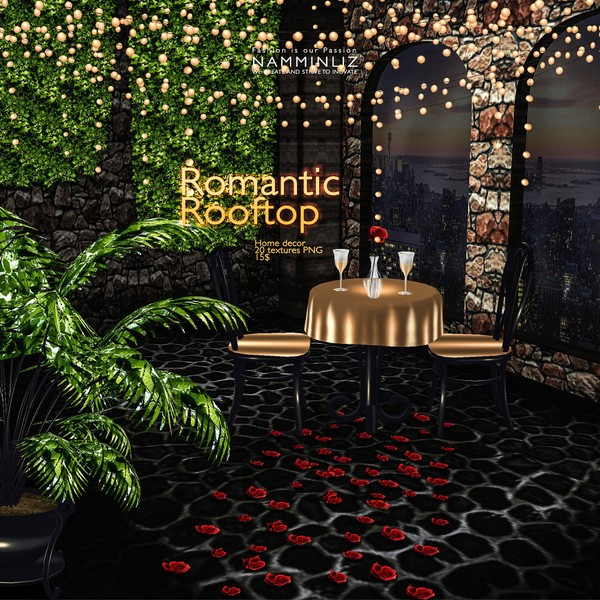 Romantic RoofTop imvu Home decor 20 Textures PNG