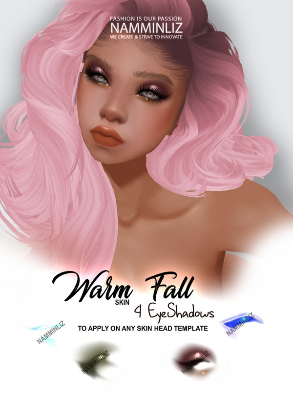 Warm Fall Skin 4 EyeShadows Textures PNG