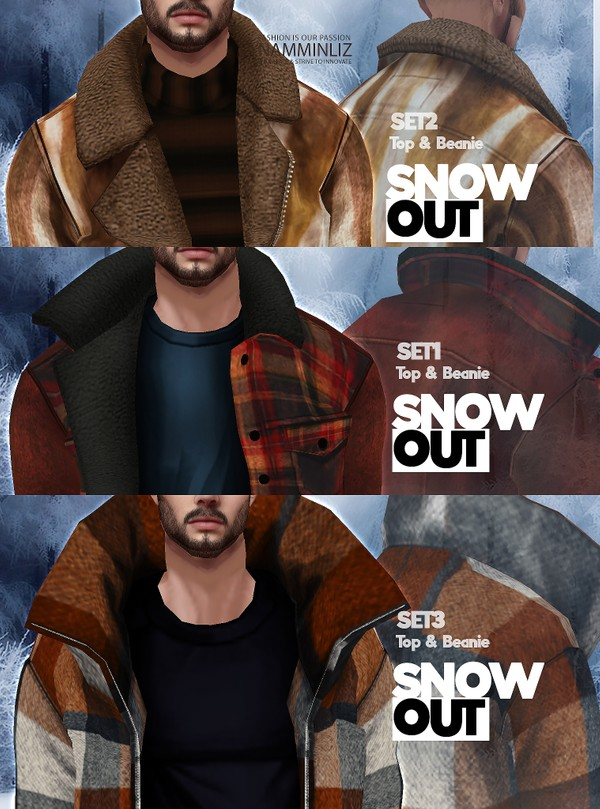Snow Out FULL SET 3 Tops 3 Beanie Textures JPG 6 CHKN