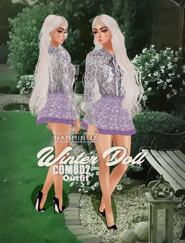 Winter Doll Combo2 Outfit Textures PNG CHKN
