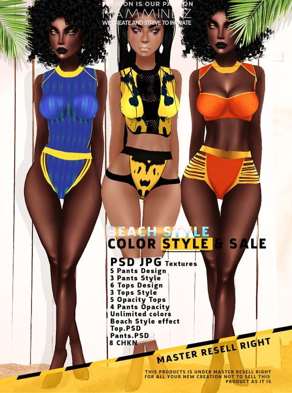 BEACH STYLE - COLOR STYLE SALE - Top & Pants PSD JPG CHKN