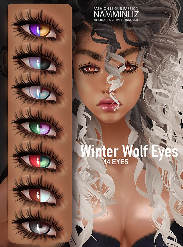 14 Winter Wolf Eyes Textures PNG  CHKN