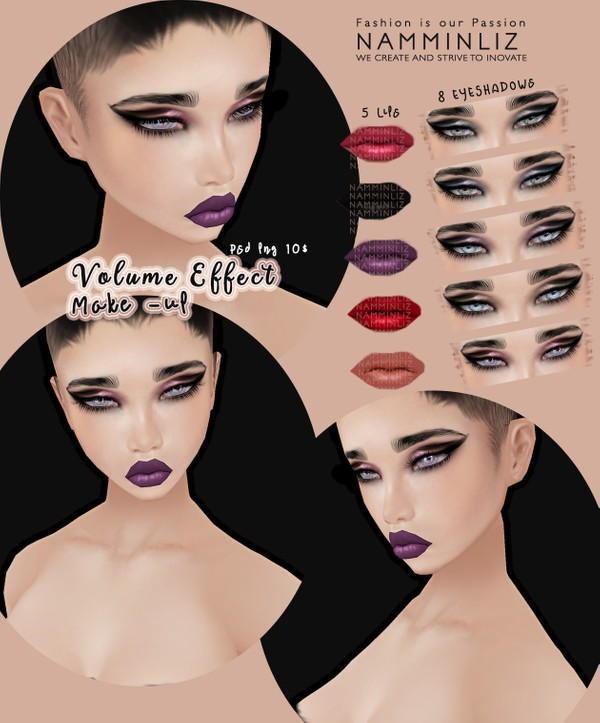 Volume Effects Make-up can be apply to any imvu skin PSD + PNG