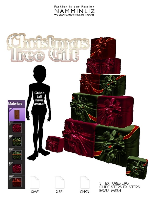 Christmas Tree Gifts (Textures 3 JPG - CHKN - XMF - XSF )