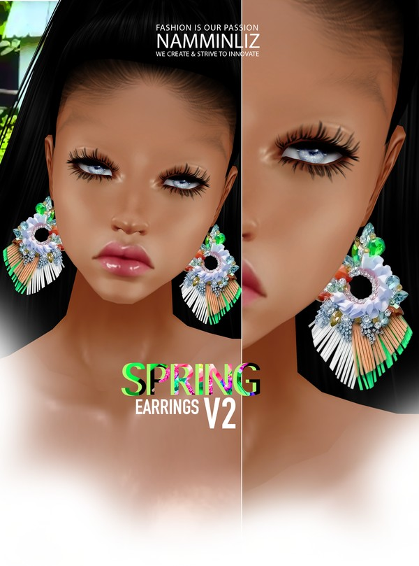 Spring Earrings V2 Textures PNG, CHKN ^  -  ^