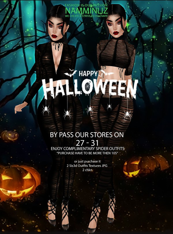 Happy Halloween (2 Outfits Textures JPG 2 CHKN sis3d)