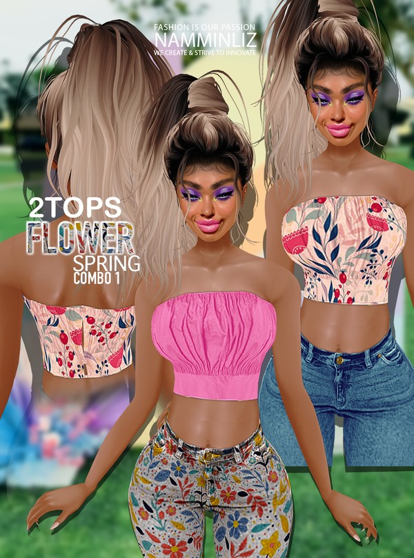 Flower Spring Combo1 2 tops All sizes Textures PNG, CHKN  Watch it live on tiktok or insta Link