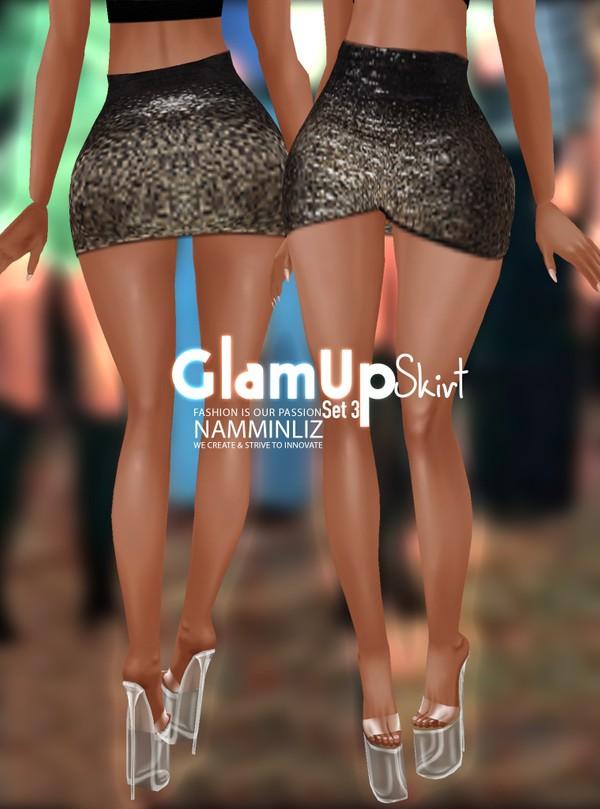 Glam Up Skirt Set 3 Textures Skirt PNG CHKN RLL