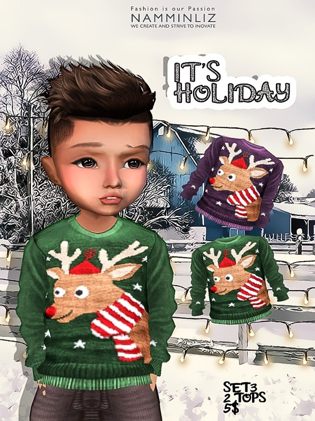 It's Holiday Full Set 8 tops imvu textures JPG NAMMINLIZ life sale