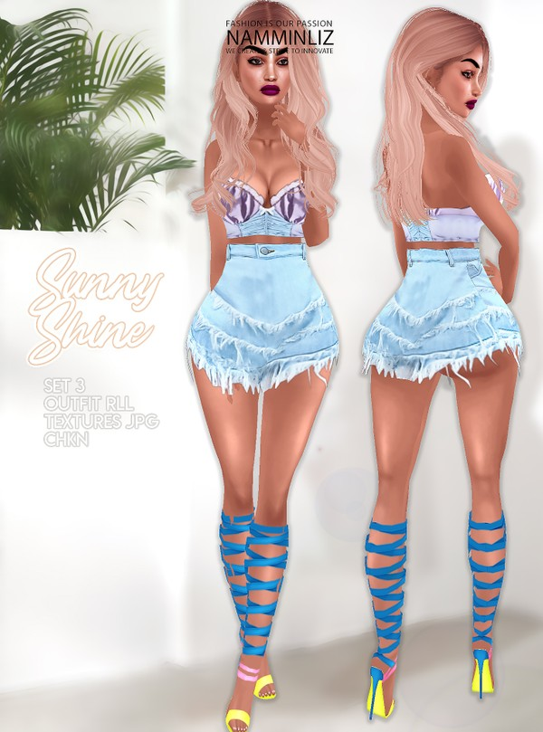 Sunny Shine Set3 Outfit RLL Textures JPG CHKN