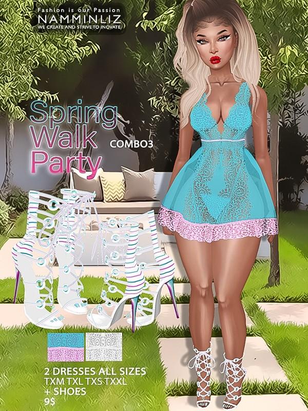Spring Walk Party combo3 ( Dress AllSizes + shoes ) JPG TEXTURES imvu