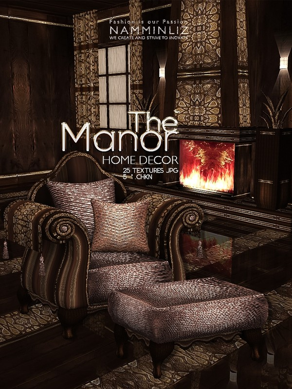 The Manor Home decor 25 Textures JPG 5*.CHKN