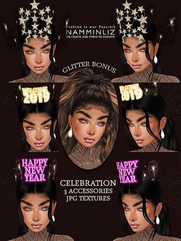 Celebration Accessories 3 + Bonus glitters JPG Textures 4 CHKN