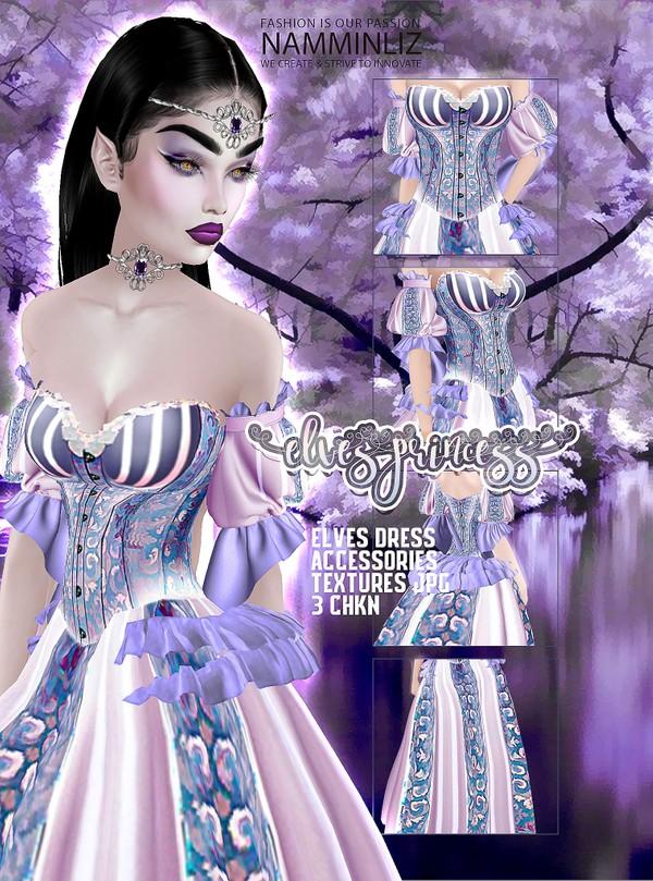 Elves Princess Textures JPG (Dress + Accessories) 3 CHKN