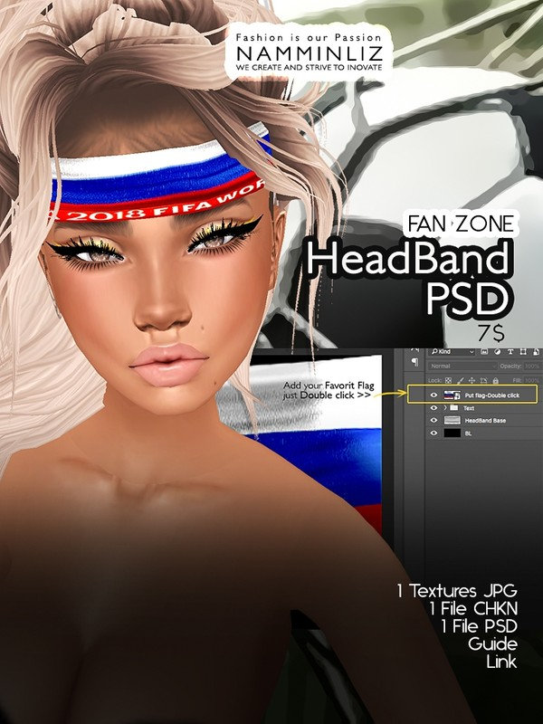 HeadBand Accessories PSD JPG Textures