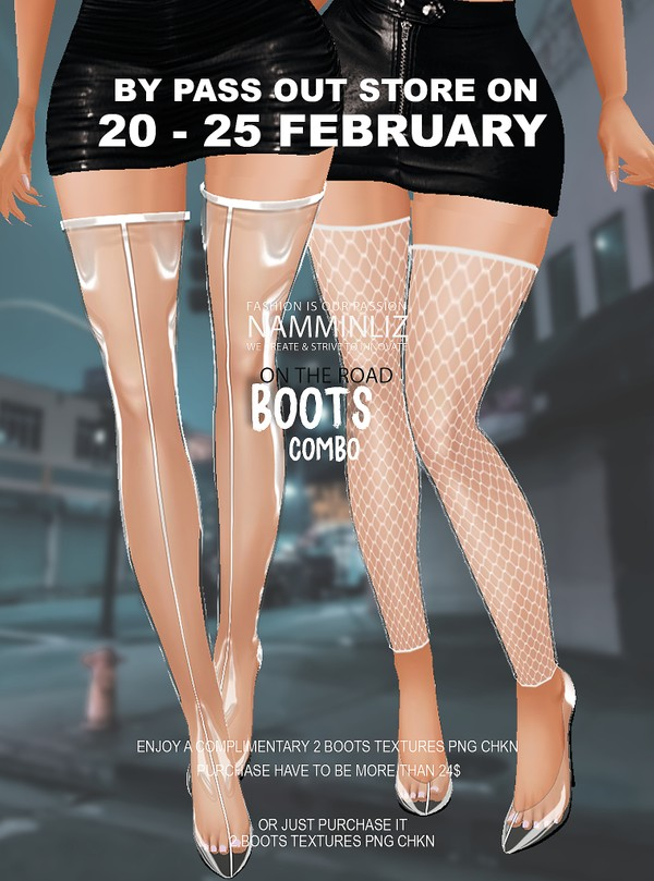 ByPass our stores on 20 to 25 February to get a complimentary 2Boots Sis3d textures PNG CHKN