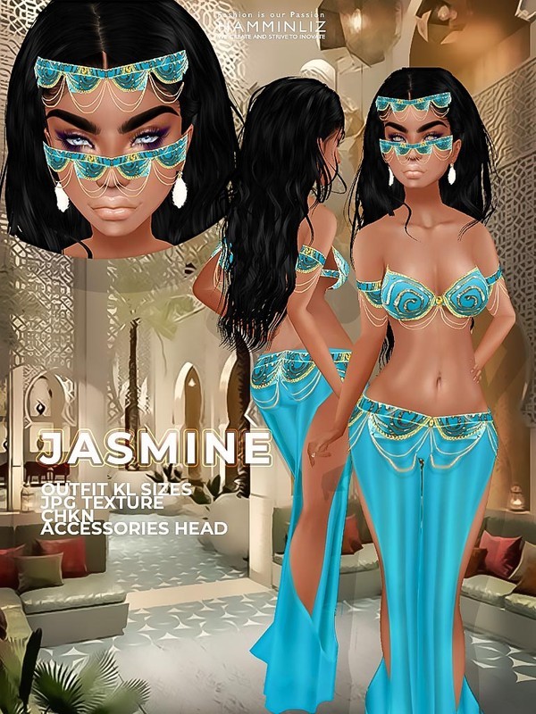 JASMINE JPG Textures KL Sizes Outfit + Accessories CHKN