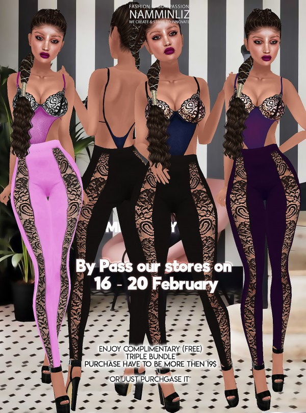 By Pass our stores on 16 - 20 February to get a complimentary Triple bundle Textures JPG CHKN