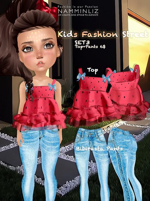 Kids fashion street SET3 ( Top + Pants textures JPG bibirasta all sizes)