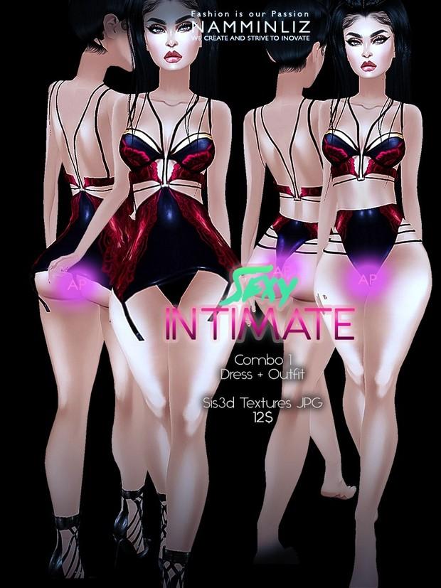 Sexy Intimate combo Full  (3Dresses + 3outfits + 2Leggings) Sis3d imvu AP  Texture JPG
