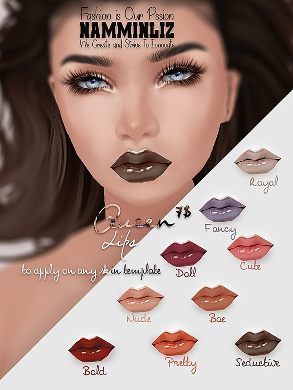 Queen 9 Lips PNG and PSD