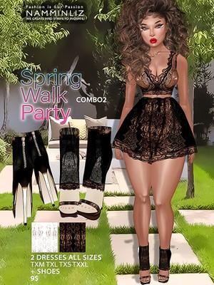 Spring Walk Party combo2 ( Dress AllSizes + shoes ) JPG TEXTURES imvu
