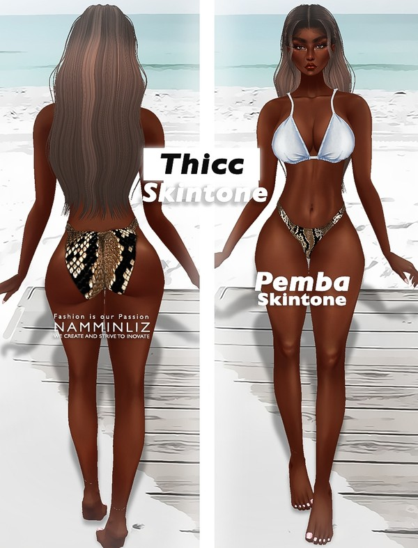 Thicc Collection Pemba Skin PNG  Realistic HD
