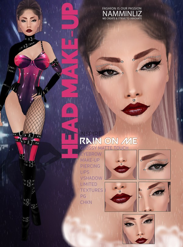 Rain on me Head Make-up V3  JPG CHKN GMT (Make-up,Lips,Eyebrow,Lips,Piercing)