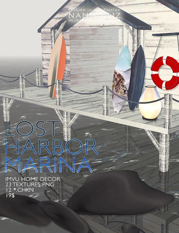 LOST HARBOR MARINA imvu home decor •23 Textures PNG •12 *.CHKN