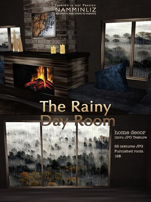 The Rainy Day Room imvu Home decor JPG Texture 22 textures JPG Furnished