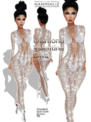 Diamond Valentine Diva combo1 outfit Sis3d JPG Texture