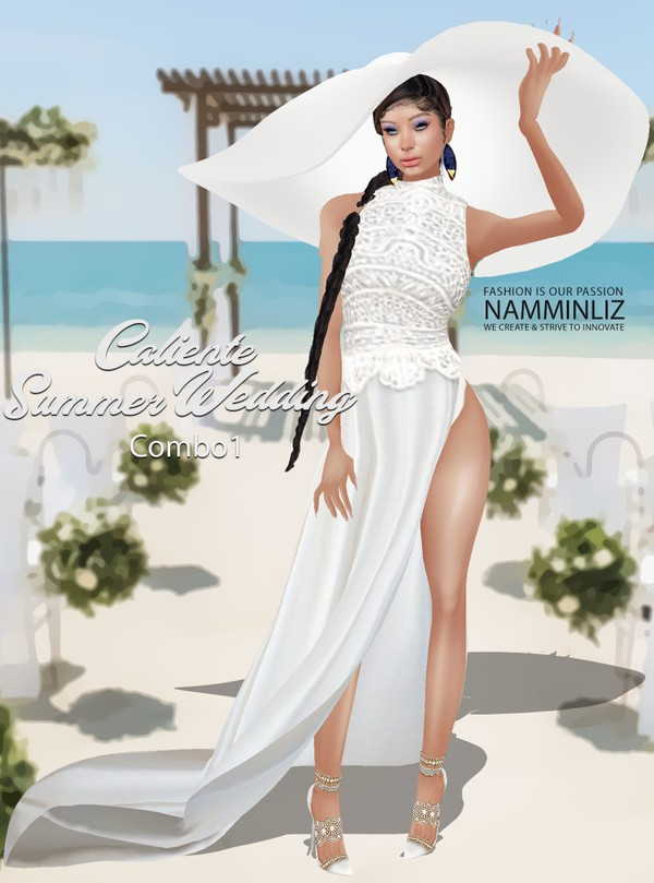 Caliente Summer Wedding Dress Combo1 Textures PNG  CHKN  Limited to 3 clients only ^  -  &
