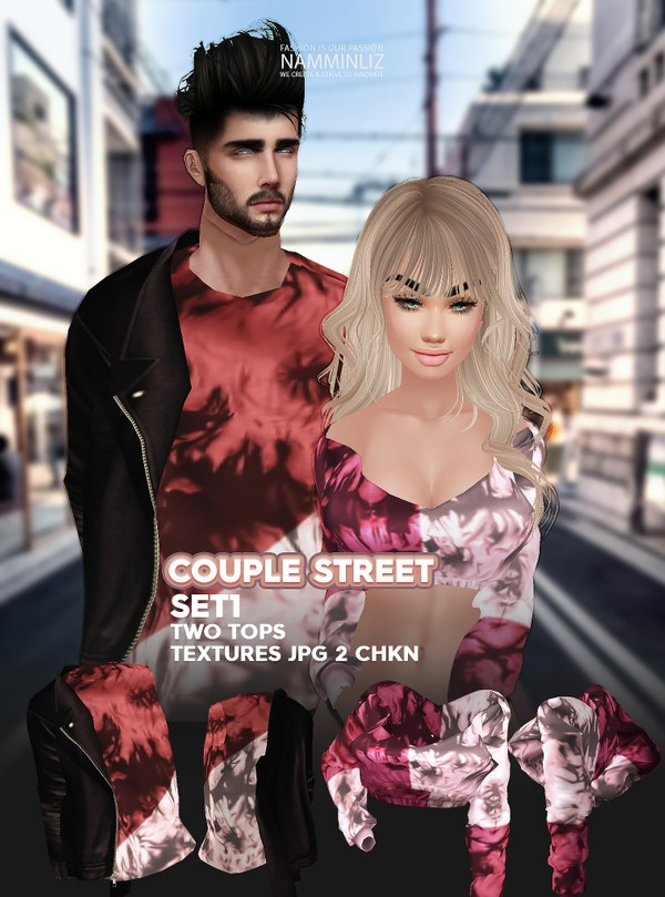 Couple Street SET1 Textures JPG 2 TOPS 2 CHKN