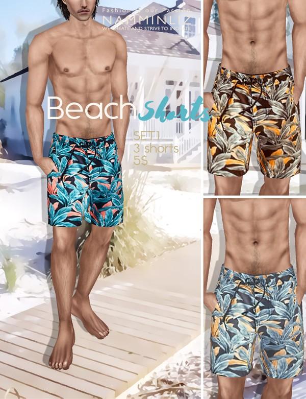 BEACH SHORTS SET 1 imvu PNG